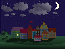 Night town scene Royalty Free Stock Image