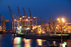 Night trade port Royalty Free Stock Photos
