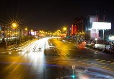 Night traffic. Of Beijing, China Royalty Free Stock Images