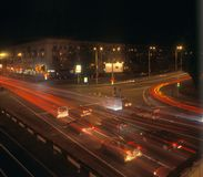 Night traffic. Royalty Free Stock Images