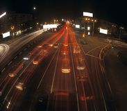Night traffic. Stock Photography