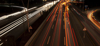 Night Traffic. Long exposure of night traffic in Ankara, Turkey Stock Images