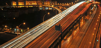 Night traffic Stock Photography