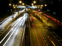 Night traffic. In the city Royalty Free Stock Photography