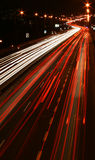 Night traffic. Traffic on road at night Royalty Free Stock Image