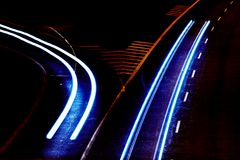 night traffic Στοκ εικόνες με δικαίωμα ελεύθερης χρήσης