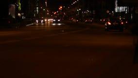 Night Traffic Background. Night City Transport stock footage
