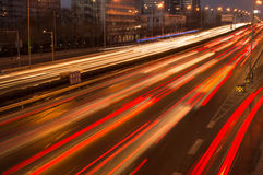 Night Traffic in beijing Royalty Free Stock Photos