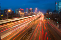 Night Traffic in beijing Stock Images