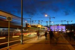 Night traffic, Berlin Stock Photo