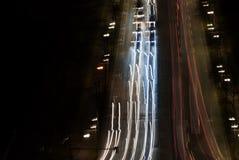 Night traffic Berlin royalty free stock photos