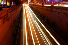 Night traffic in Bucharest Royalty Free Stock Photography
