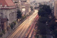 Night traffic Royalty Free Stock Photography