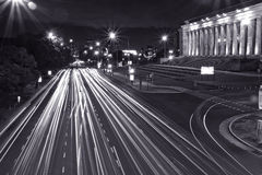 Night traffic in Buenos Aires Royalty Free Stock Image
