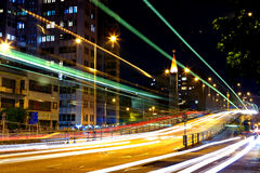 Night traffic in city Royalty Free Stock Images
