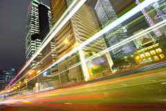 Night traffic in city Stock Photography