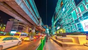 Night traffic in the city Bangkok, Thailand. November, 2016. 4K TimeLapse. 4K TimeLapse - November 2016, Bangkok city Thailand stock video