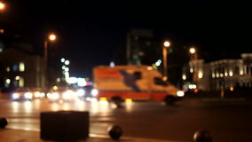 Night traffic. In city defocused stock video