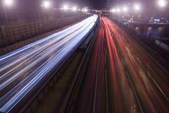 Night traffic city Stock Images