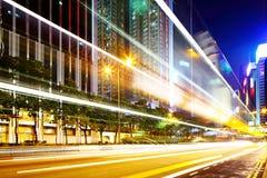 Night traffic in city Royalty Free Stock Photo