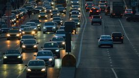 Traffic on the highway stock video footage