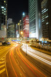 Night traffic in Hong Kong Royalty Free Stock Photo