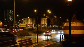 Night traffic in Ipswich stock footage