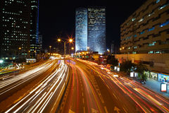 Night traffic jam Royalty Free Stock Image