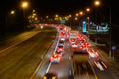 Night traffic jam Royalty Free Stock Photo