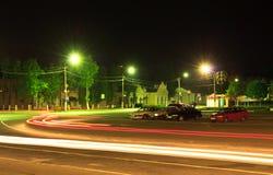 Night traffic light Stock Photo