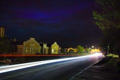 Night traffic light Royalty Free Stock Image