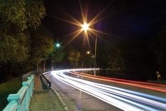 Night traffic light Royalty Free Stock Images