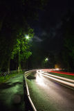 Night traffic light Stock Images