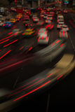 Night traffic light Stock Photography