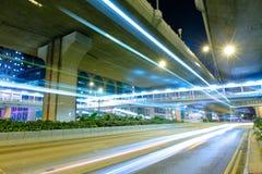 Night traffic light trail Royalty Free Stock Image