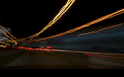Night traffic light. The night traffic light in the tunel Royalty Free Stock Photography