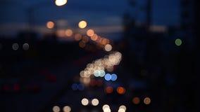 Night traffic lights-Bangkok. Defocused night traffic lights-Bangkok stock video footage