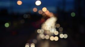Night traffic lights-Bangkok. Defocused night traffic lights-Bangkok stock video