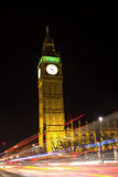 Night traffic lights and big ben Royalty Free Stock Photos