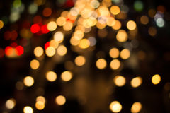 Night traffic lights. Of the big city.Blurred night view of city in the night Royalty Free Stock Photo