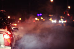 Night traffic lights Stock Image