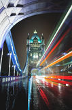 Night traffic in London Royalty Free Stock Photo