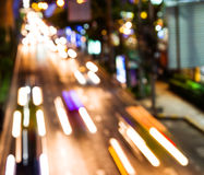 Night traffic. Motion blur. Stock Photography