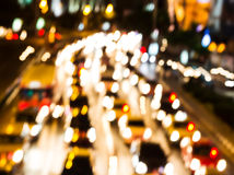Night traffic. Motion blur. Stock Photos