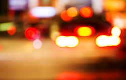 Night traffic. Motion blur. Stock Images