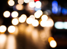 Night traffic. Motion blur. Royalty Free Stock Images