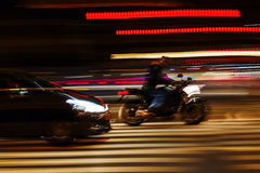 Night traffic in motion blur Royalty Free Stock Images