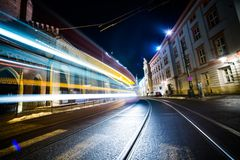 Night Traffic in Motion Royalty Free Stock Images