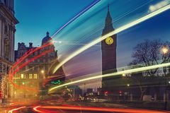 Big Ben in London at night Royalty Free Stock Photos