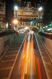 Night traffic near Grand Central Royalty Free Stock Images